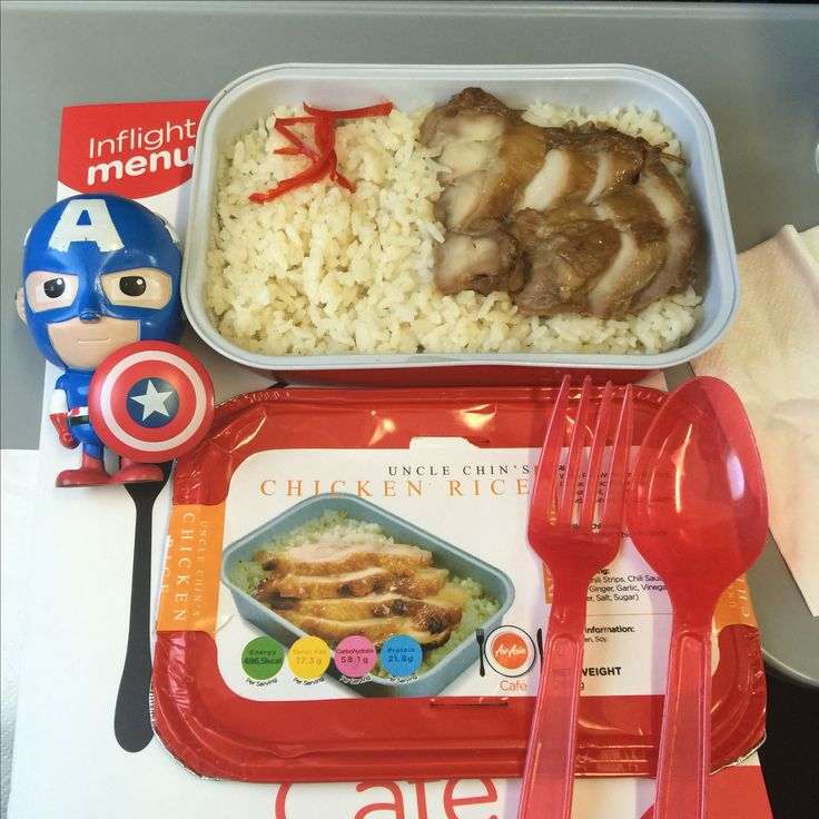 Menu : Uncle Chin's Chicken Rice from Air Asia airlines, route from Jakarta to Kuala Lumpur.