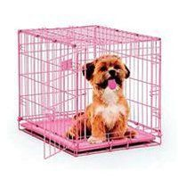 Midwest Crates : The dog crate comes to you equipped with every feature you can think of; a composite plastic pan for easy cleanup in the event of an accident, plastic carrying handle to move the dog crate from one location to another comfortably, Safe and secure slide bolt latches for the safety and security of the pet inside and the furniture on the outside, and most importantly a Free divider panel for use while your puppy is still growing up.