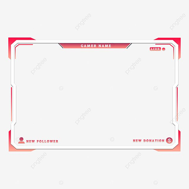 Twitch Live Stream Overlay Face C Border Stream Overlay Facecam Border Png Transparent Clipart Image And Psd File For Free Download Face C Overlays Twitch