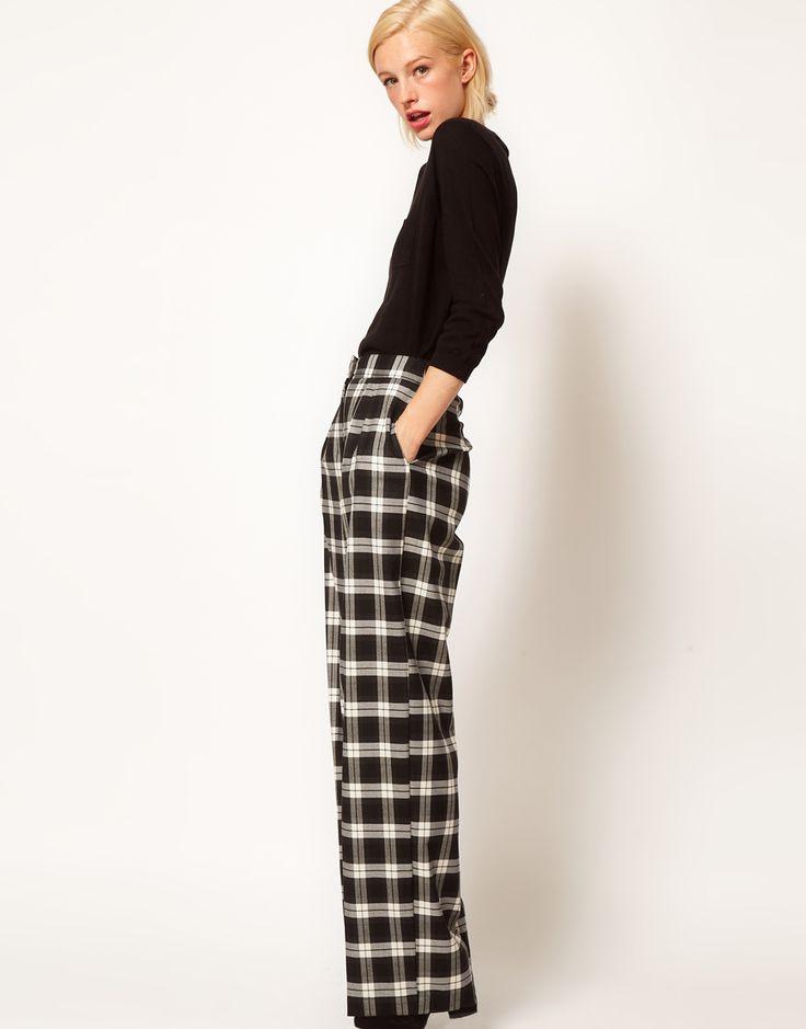 17 Best images about Trousers on Pinterest | Wide leg pants, Plaid ...