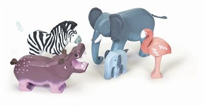 Get ready for a wild safari with this Zambezi Wooden Toy Wild Animals set from Le Toy Van. This lovely painted wooden animal set comprises 6 hand-finished animals including an adult rhino and its calf, lion and cub, giraffe and crocodile some featuring fabric features. Can be used with the Le Toy Van Safari Play Mat and alongside the Savannah Wild Animal Set.