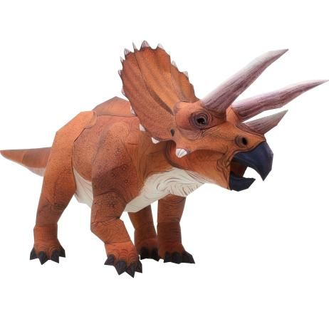 Canon Papercraft: Dinosaur - Triceratops Ver.2 Free Template Download - http://www.papercraftsquare.com/canon-papercraft-dinosaur-triceratops-ver-2-free-template-download.html#CanonPapercraft, #Dinosaur, #Triceratops