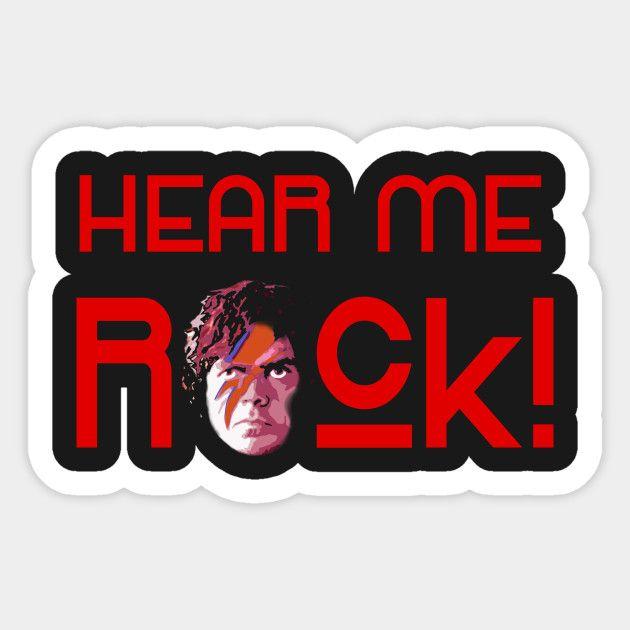 Hear Me Rock! - sticker #popart #hearmerock #ziggy #glamrock #tv #imp #warrior #rockstar #fashion #geek #nerd #punk #typography #music #stickers #teepublic