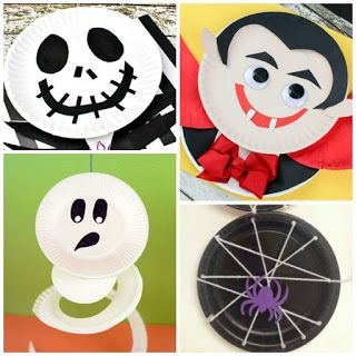 Ghosts and goblins and witches, too! Here are twenty BOO-tiful paper plate crafts for kids to make for you. For all the best kids activities follow us on Pinterest & Facebook. HALLOWEEN PAPER PLATE C