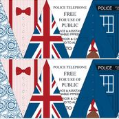 Doctor Who Bunting Flags by risarocksit, Spoonflower digitally printed fabric, wallpaper, and gift wrap