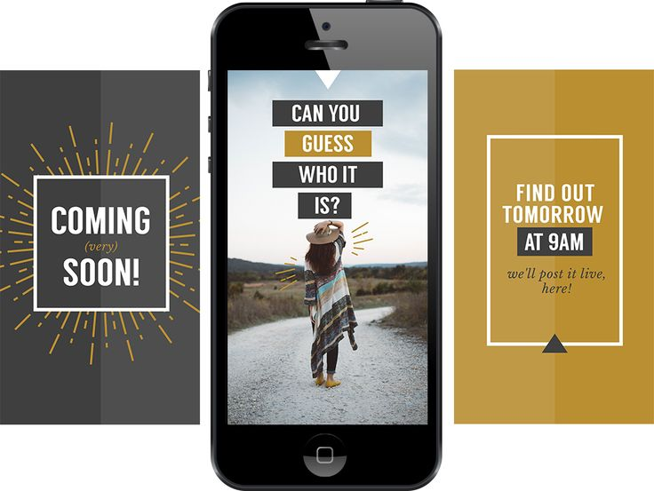 Free Instagram stories template for Coming soon annoucement - multiple images!