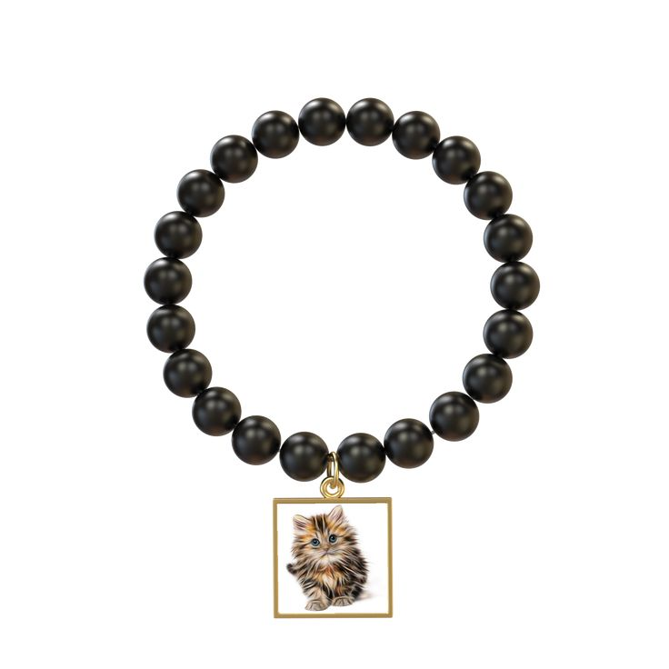 Cat One Matte Onyx Bracelet Featuring Indigo Tile Order Here https://goo.gl/34epzC  #style #jewellery #beads #earnrewards #bracelets #bride #charms #buynowpaylater #jewellerysets #fashionaccessories