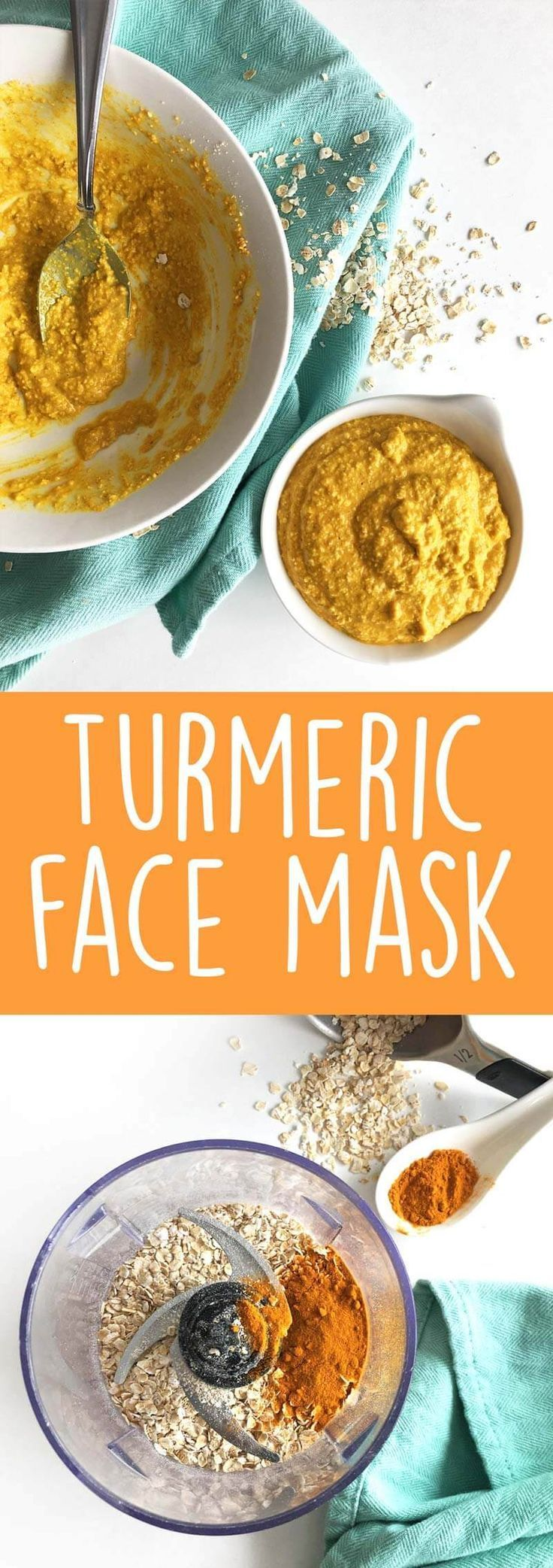 DIY Turmeric Face Mask: Bursting with amazing benefits, this homemade face mask will leave your skin moisturized. It also treats acne and reduces the appearance of scars and dark spots. | http://thecrunchychronicles.com | Face Mask for Acne