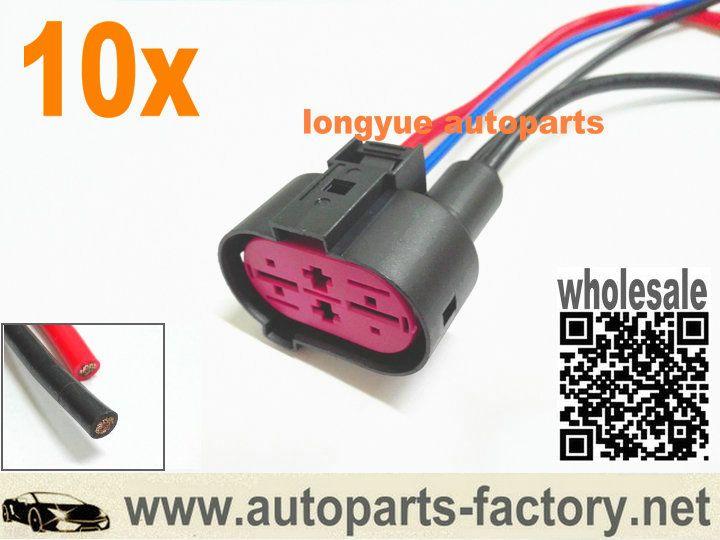 longyue 10pcs Fan Control Module Plug Pigtail Connector 02-04 Audi on 02 audi rs4, 02 audi s8, 02 audi a8, 02 audi r8, 02 audi s6, 02 audi a3, 02 audi allroad, 02 audi rs6, 02 audi quattro, 02 audi s5,