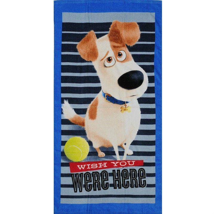Secret Life Of Pets pyyhe Kääriydy kylvyn jälkeen tähän pehmeään pyyhkeeseen, jossa seikkailee lapsesi lempi Lemmikkien Salainen elämä hahmo Max!
