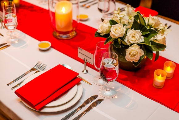 Lovely table setting at our recent event