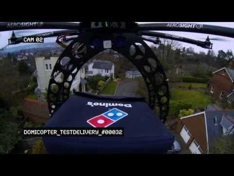 Un uso davvero originale del drone: ecco la consegna della pizza..direttamente dal cielo!