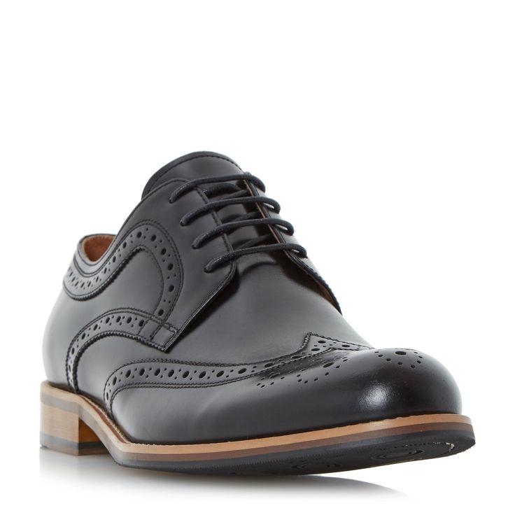DUNE MENS RADCLIFFE - Gibson Brogue Shoe - black   Dune Shoes Online