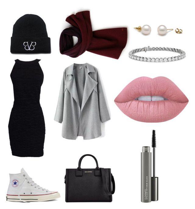 """Senza titolo #206"" by firefashionga on Polyvore featuring moda, Converse, Chanel, Karl Lagerfeld, Lacoste, Blue Nile, Lime Crime e MAC Cosmetics"