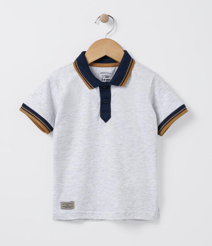 cf858fcdb89d9 Camiseta infantil Manga curta Gola polo Marca  Póim Tecido  meia malha  COLEÇÃO INVERNO 2016