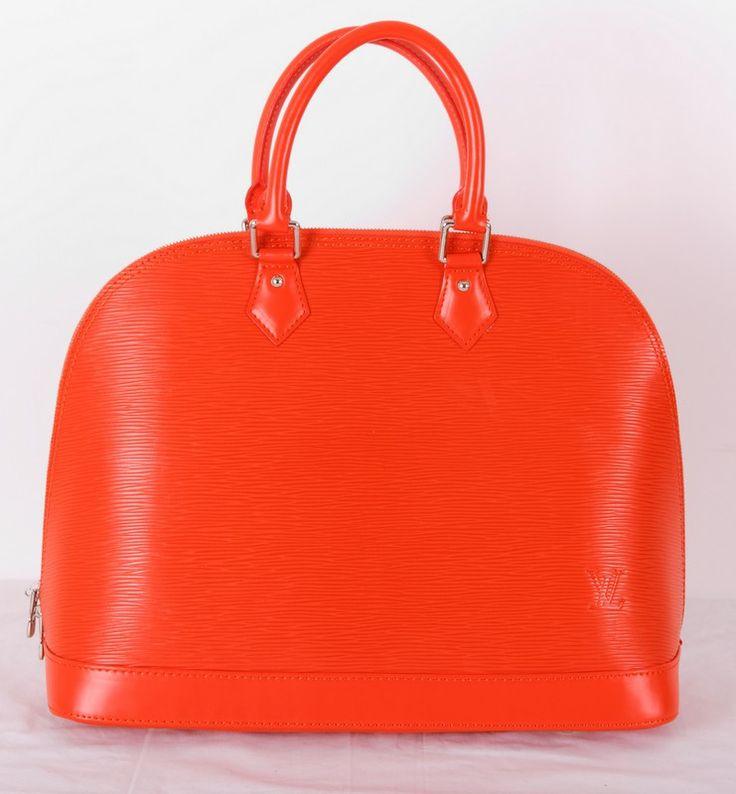 Сумка Louis Vuitton Alma MM из натуральной кожи Epi Leather оранжевого цвета !! Последняя распродажа модели !! Продаётся с большой скидкой !! !! Отличное качество и низкая цена !!