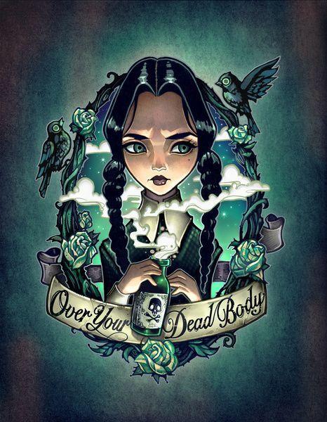 Immagine di http://tattoomuse.it/wp-content/uploads/2016/06/tatuaggi-ispirati-a-Mercoledi%CC%80-Addams-13.jpg.