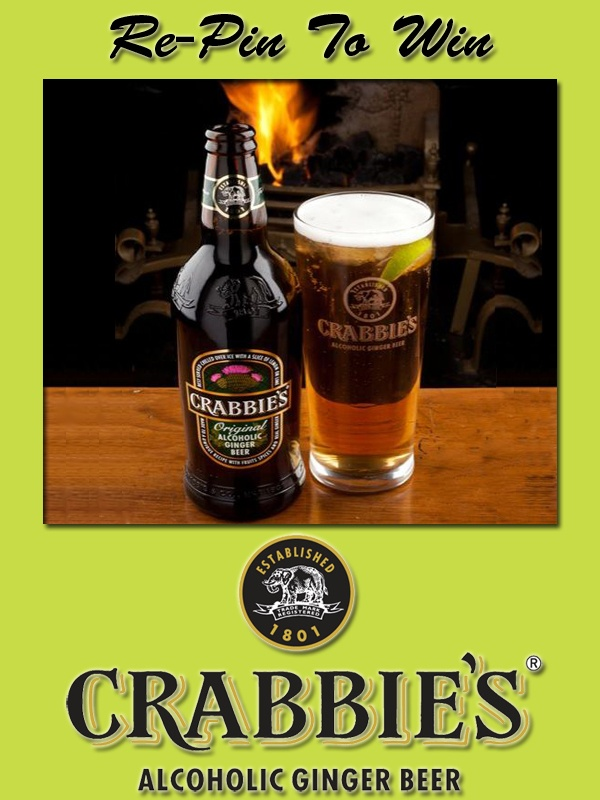 1.Prize Draw open to UK residents (excluding N.I.) aged 18+. See full T at http://crabbiesrules.tumblr.com/. Pub Tokens' T also apply. To enter, re-pin promotional image from http://pinterest.com/crabbiesuk/.     2.Two winners, chosen at random from all valid re-pins made up to and including 5pm on 28.11.12, will receive £40 Pub Tokens (subject to availability): www.pubtokens.com/find-a-pub.    3.Data will be used in accordance with UK data protection laws.