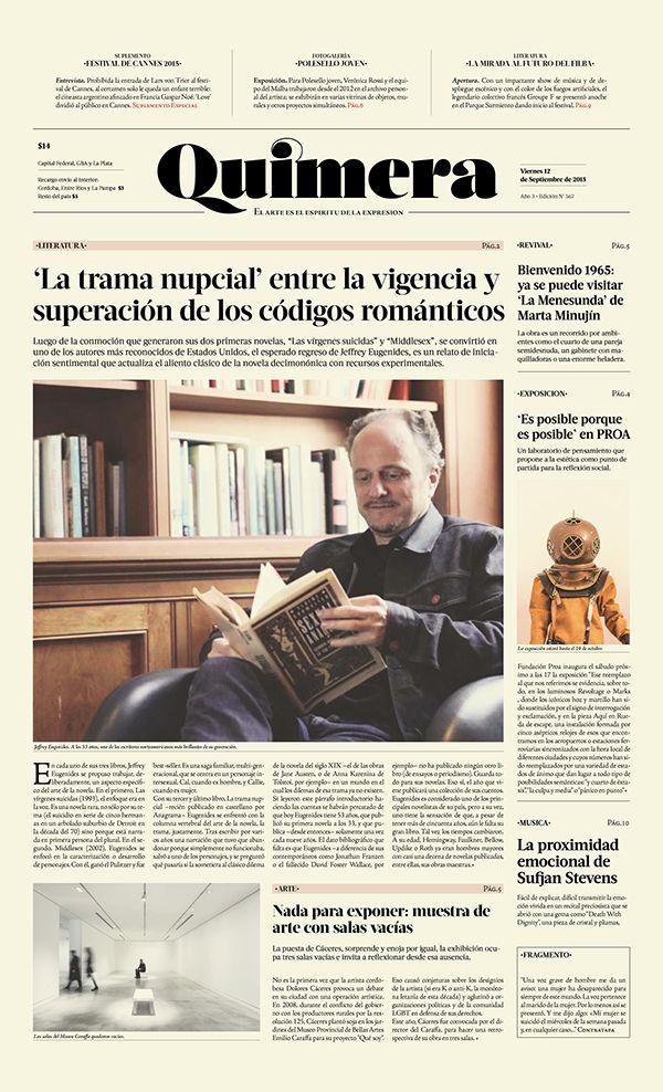 Newspaper — Periódico Quimera on Editorial Design Served                                                                                                                                                     More