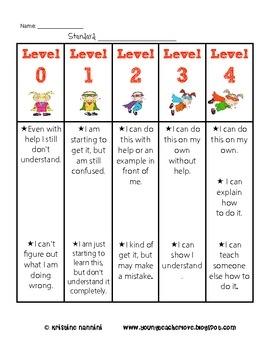 Formative Assessment 4 Levels- Assess Yourself Rubric Posters {Super Hero Kids} - Miss Nannini - TeachersPayTeachers.com