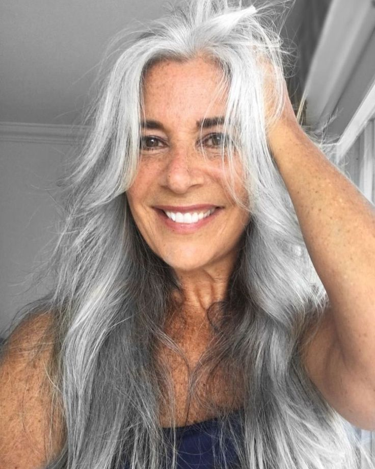 Gray haired model nude