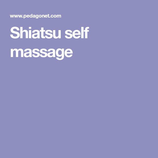 Shiatsu self massage