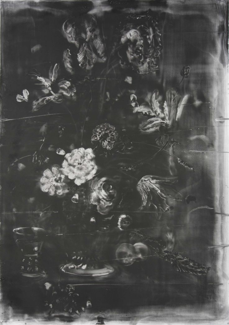Christopher Cook 'no man's flowers' graphite on paper 102 x 72 cm 2017