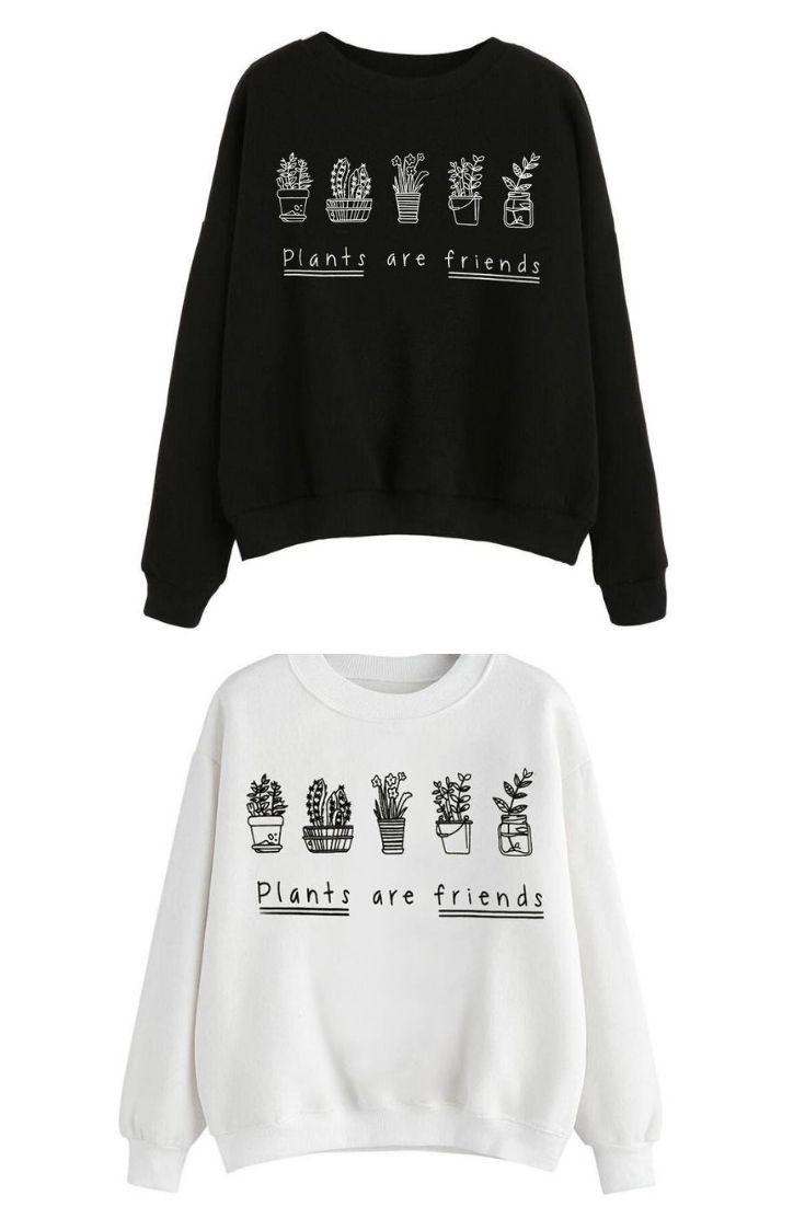 Plant Lovers Cute Sweatshirts Sweatshirt For Teens Girls Cute Outfits Casual And Fashion Prints Sweatshir Sweatshirts Online Womens Clothing Cute Sweatshirts [ 1102 x 735 Pixel ]