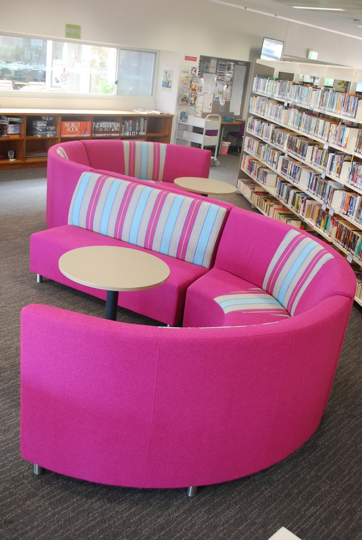 Curved seating to encourage collaborative study