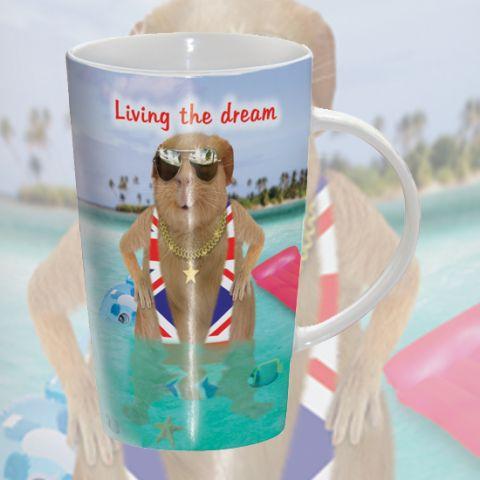 Kubek latte Living The Dream