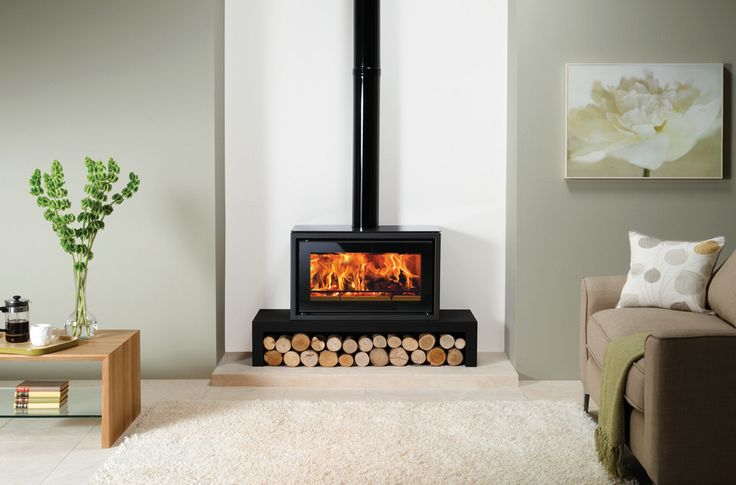 raised wood burning fireplace - Google Search