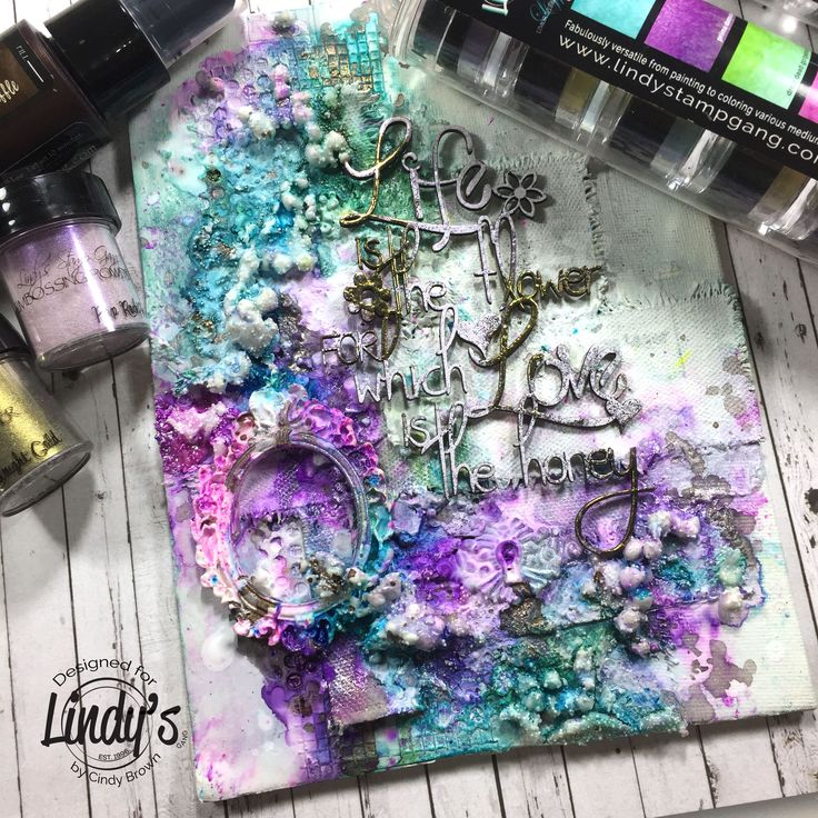 So much texture! So much color!  Great mixed media canvas from Cindy Brown! http://ss1.us/a/f6jalyeN