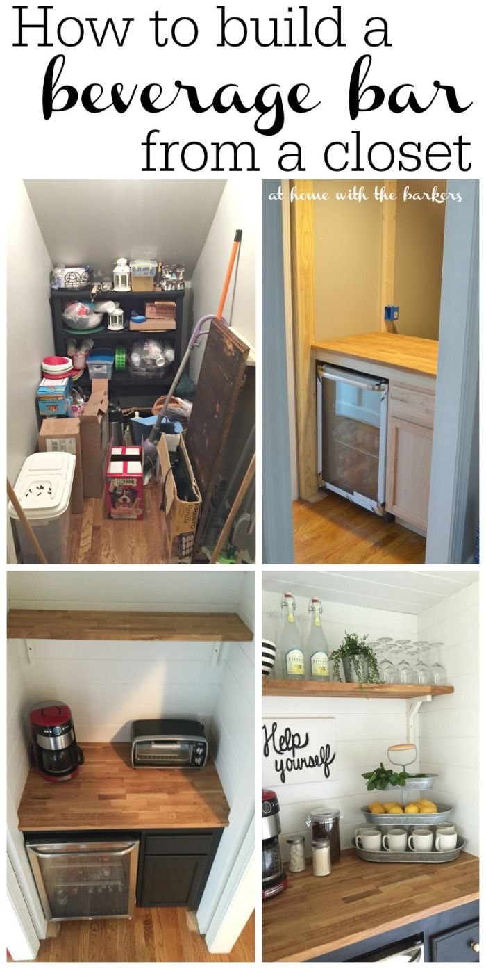 A cluttered and useless space under the stairs becomes a gorgeous beverage bar. Great use of space.