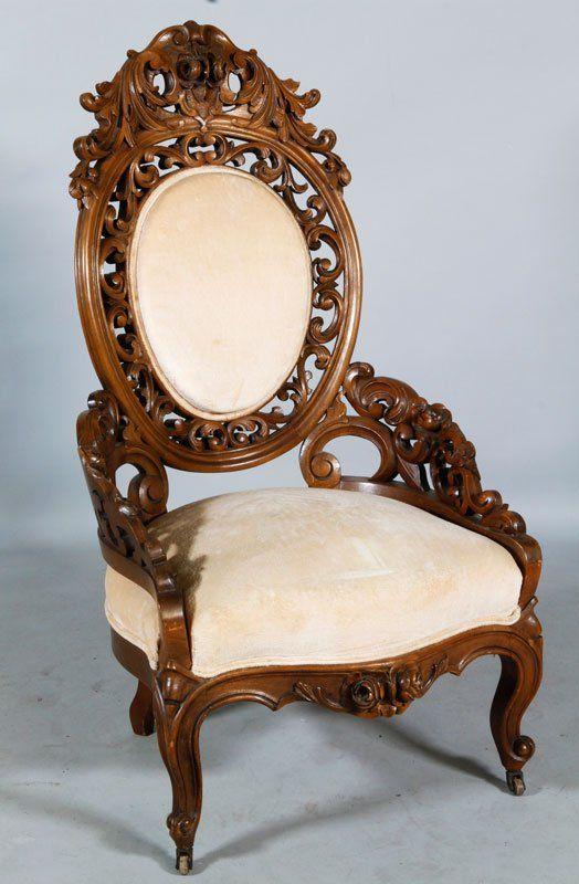 Victorian silla tallada