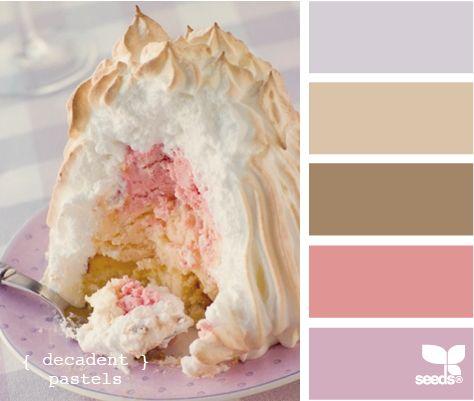 decadent pastelsColors Combos, Design Seeds, Pastel Cerveza Tennis, Decadent Pastel, Colors Palettes, Colors Schemes, Pastel Colors, Colours Palettes, Colors Inspiration