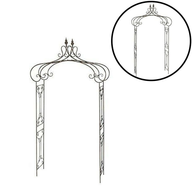 Garden Arbor Outdoor Wedding Wrought Iron Yard Gate Patio Decor Pergola #Unbranded