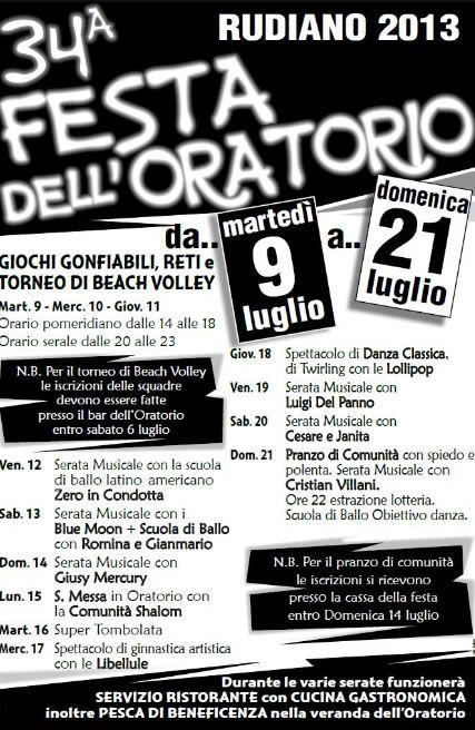 34 Festa dell' Oratorio a Rudiano http://www.panesalamina.com/2013/14107-34-festa-dell-oratorio-a-rudiano.html