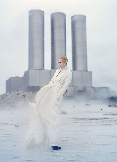 tilda swinton in white