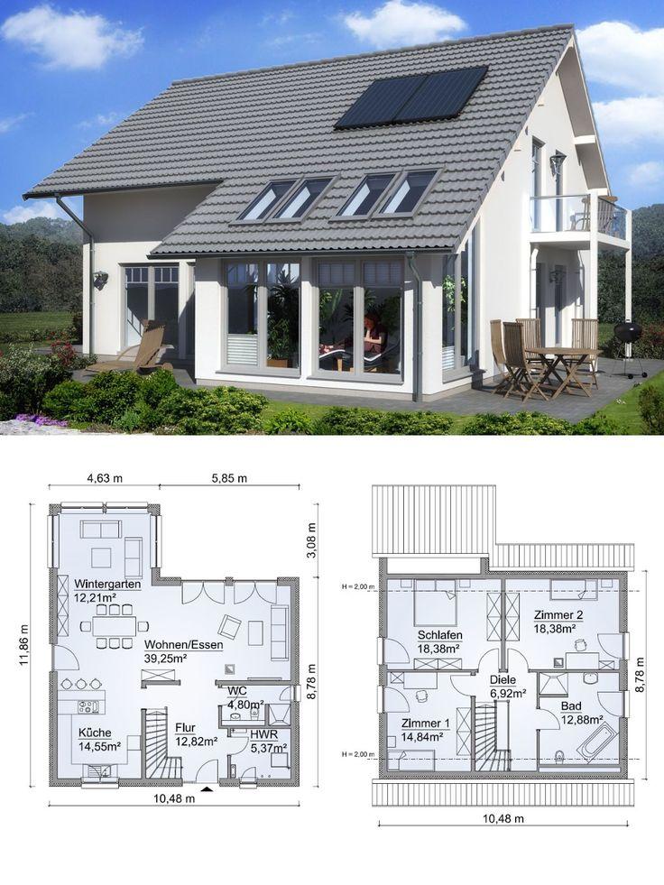 Einfamilienhaus SH 160 DREMPEL mit Wintergarten Erker – ScanHaus Marlow | HausbauDirekt