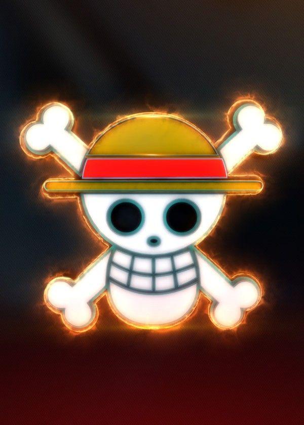 3D Luffy Flag Emblem. (modeling, post-production, edition