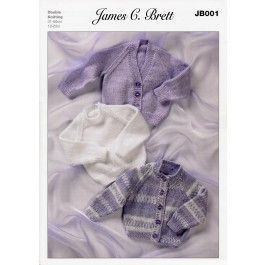 Cardigans and Sweater in James C. Brett Magi-Knit DK, Baby DK and Supreme Baby DK (JB001) £2.99