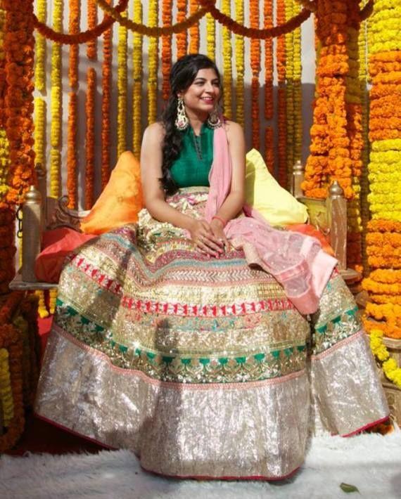Mehendi Outfit- Mehendi Dress- Semi Bridal