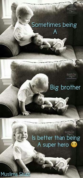 Muslima Shazi - being a big brother vs super hero. So sweet!
