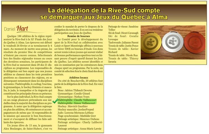 Jeux du Québec 2017- Claudie et Simon Vaillancourt représenteront la Rive-Sud en Haltérophilie
