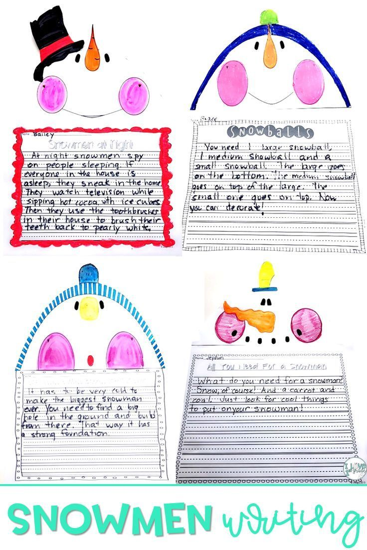 This product supplies everything you need to make super cute snowmen  writing. The books used