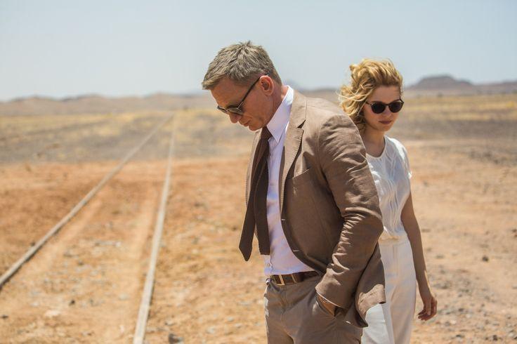 daniel craig bond spectre brown morocco suit outfit
