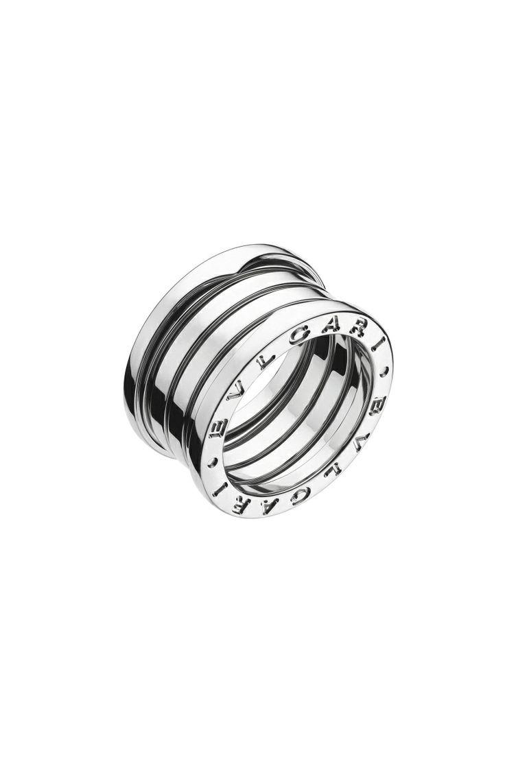 bvlgari ring in white gold