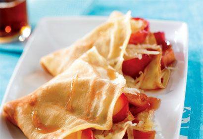 Crêpes fines aux pommes et au fromage