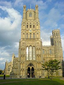 The Ely Cathedral with the amazing octagon tower. Ely, UK.