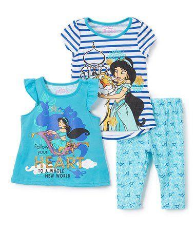 This Disney Princess Jasmine Tee Set - Toddler & Girls is perfect! #zulilyfinds